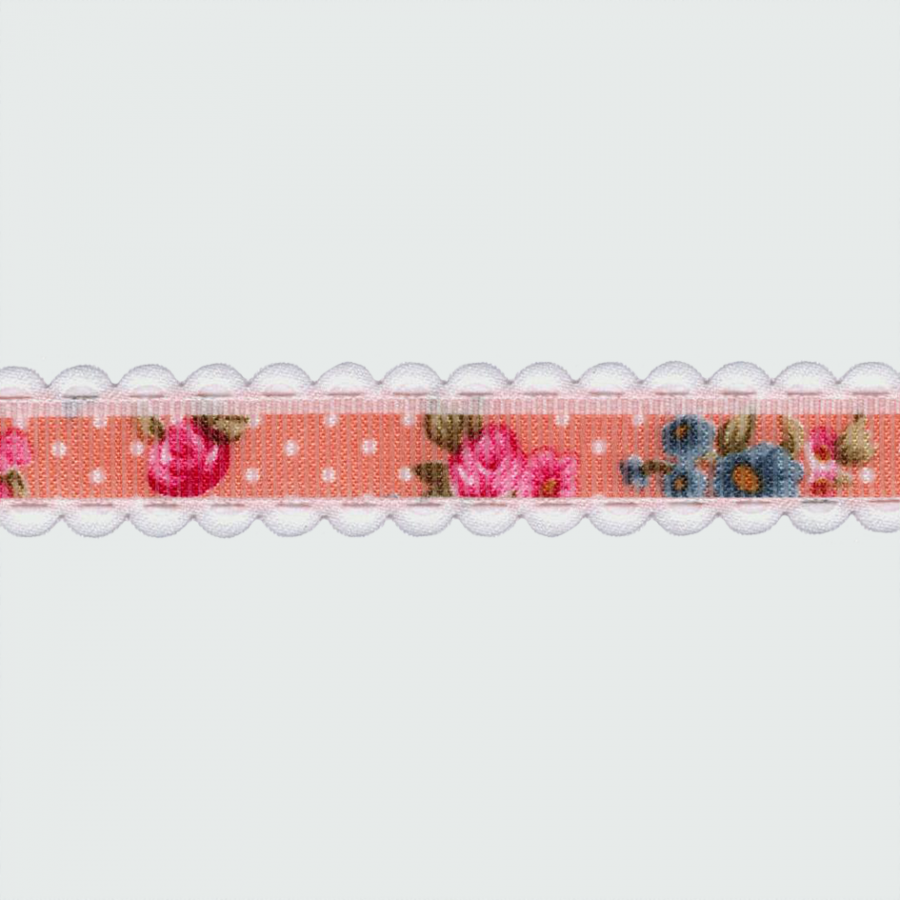 CINTA GROSGRAIN BORDE 15MM ROSA